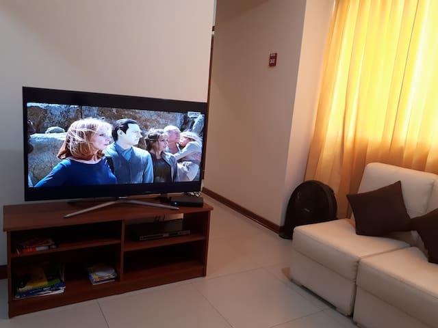 TV con Direct TV Y NETFLIX en sala