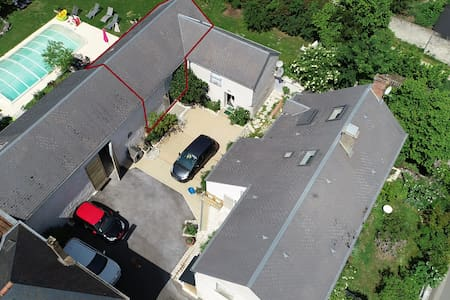 Maison vigneronne avec piscine, vallée de la Loire