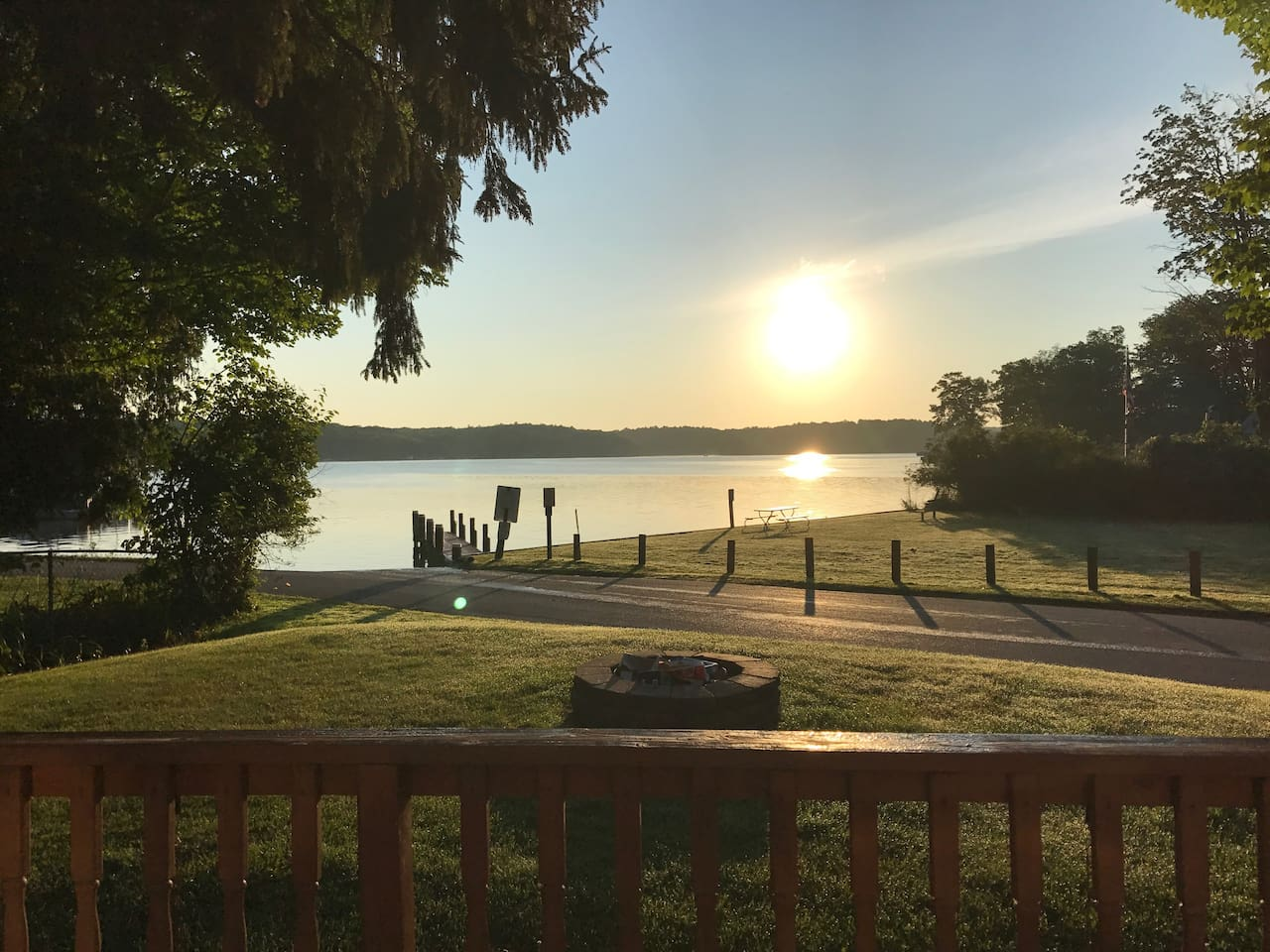 What a wonderful view to wake up to in the morning. This is the view off the front deck of the cottage.