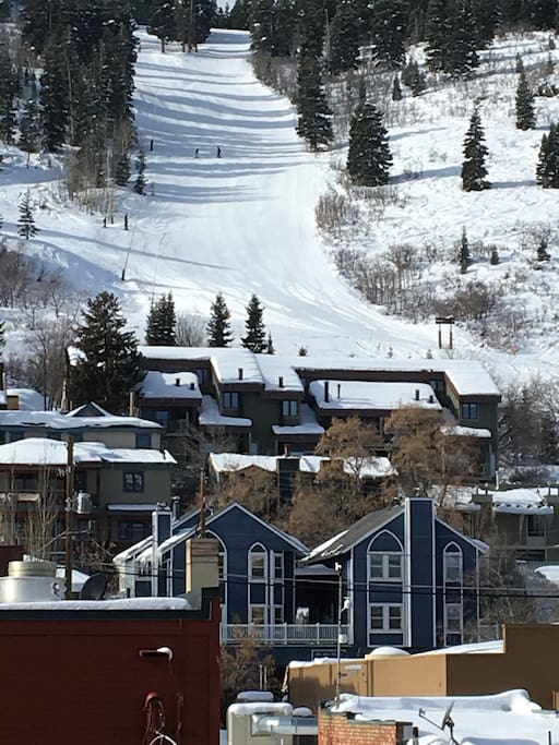 Blue Church Lodge and Town Homes with Park City Resort Run in the back!