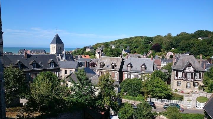 Maison vue mer et village à Veules-Les-Roses