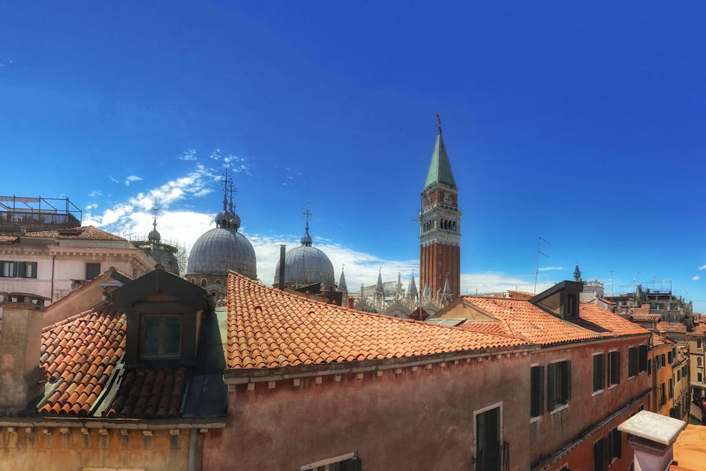 This is the Actual Panoramic View of San Marco from the Huge Attic Window.