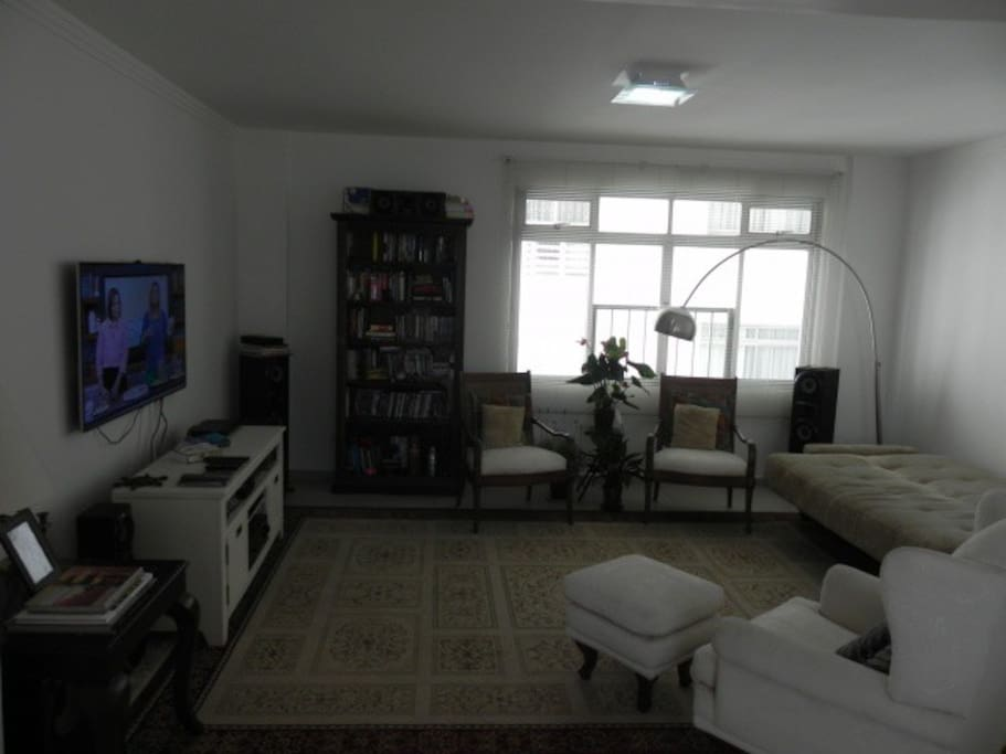 living room with sofa-bed