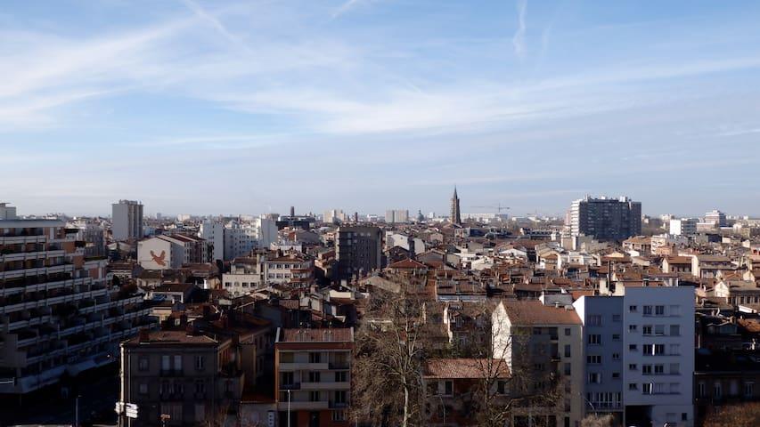 Chambre ds T5 calme près de la gare, superbe vue ! - Toulouse - Apartment