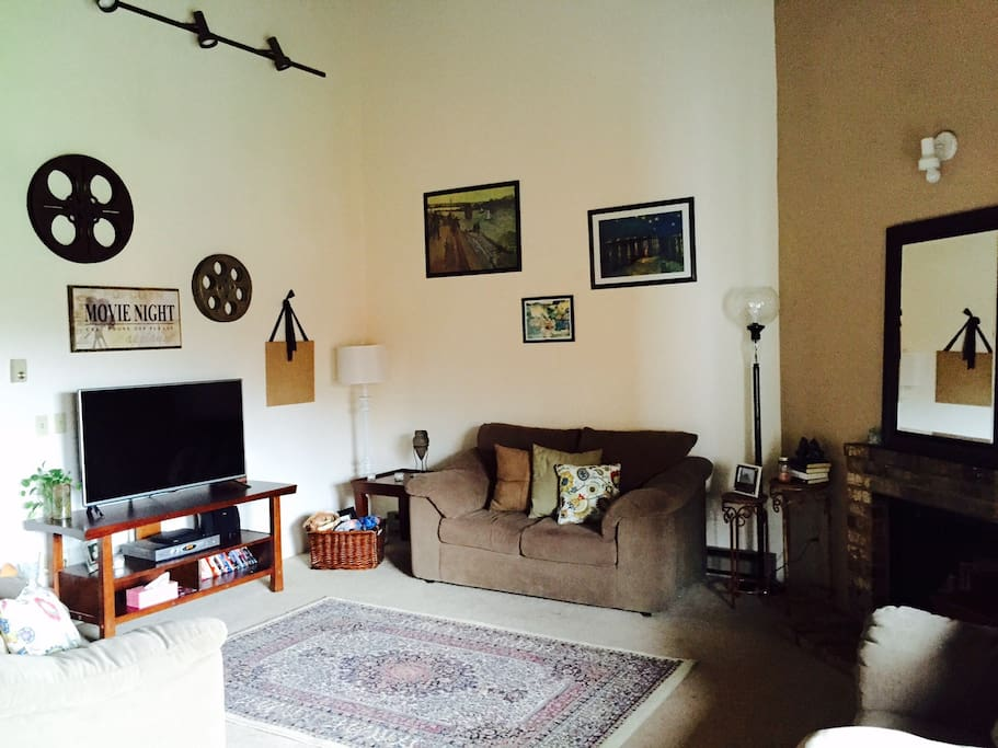 Living Room, Vaulted Ceilings