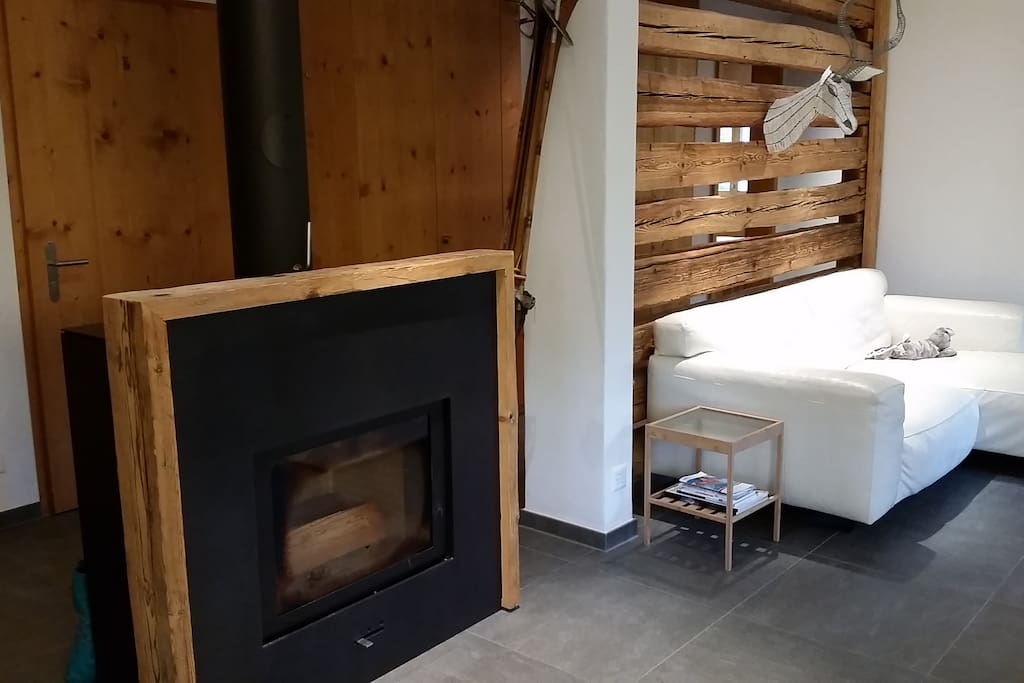 Relax by the fire place -the best after an amazing day of ski