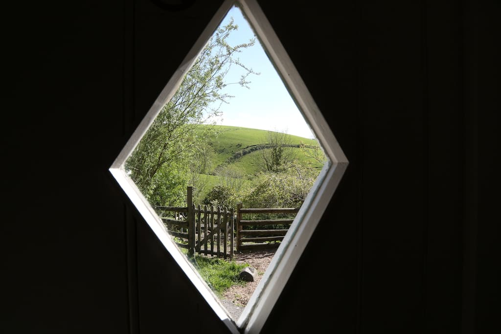 The view through the Byre doorway