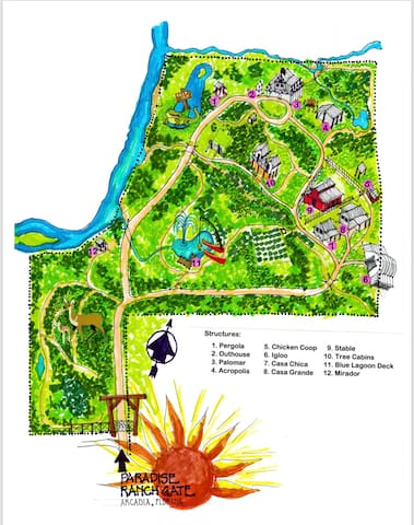Map of Paradise Ranch