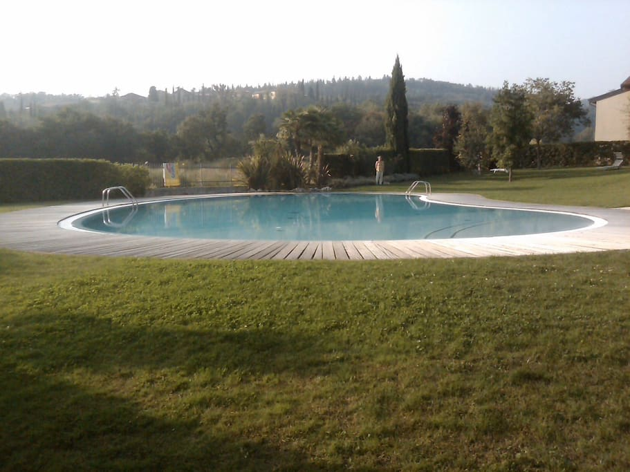 Panoramic view of the shared pool