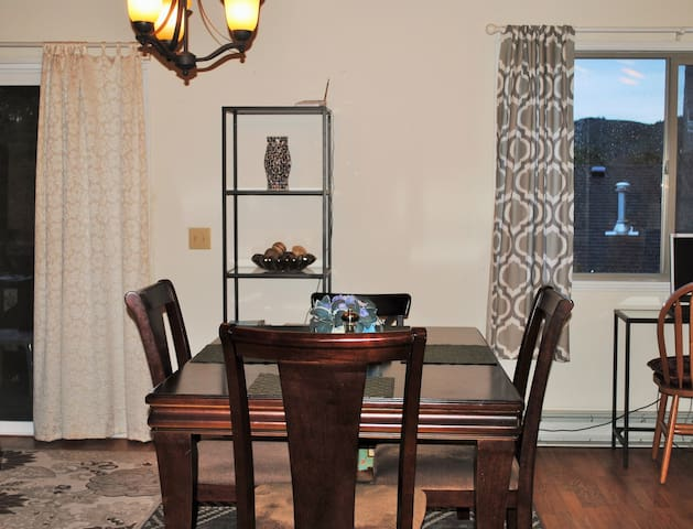 Dining for four in open concept