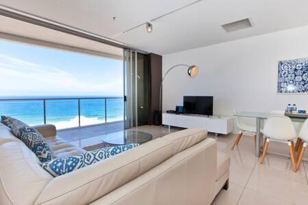 ABSOLUTE OCEANFRONT Broadbeach Luxury 2 bed 2 bath - 布罗德海滩(Broadbeach) - 公寓