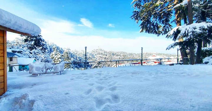1 BR beautiful bedroom with mountain View Manali