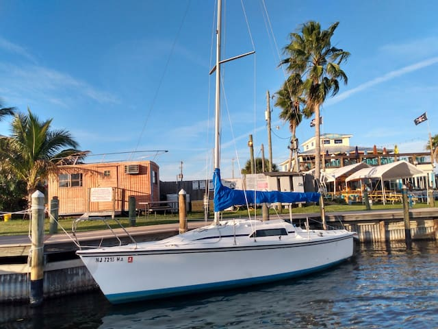 Sailboat Glamping at a Beach-Side Marina!