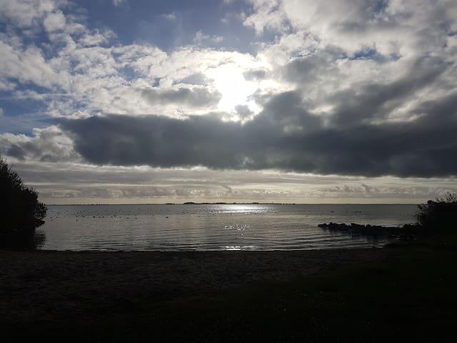 a small beach close by (5min)