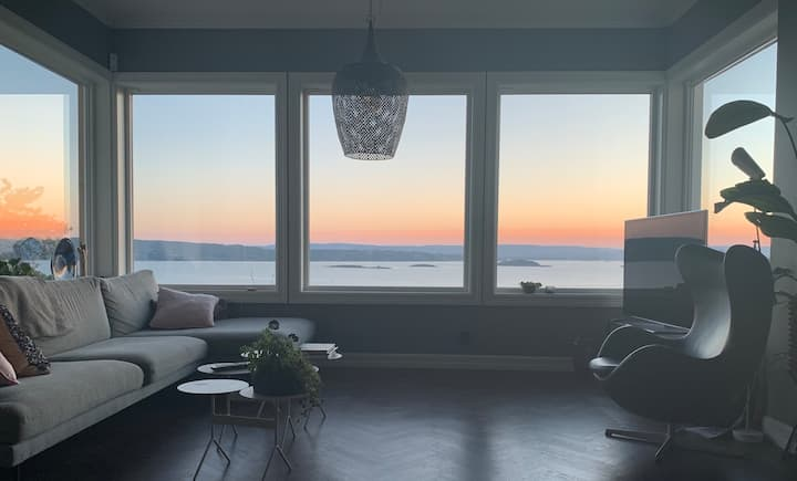 Panoramautsikt - høy standard - nær badestrand