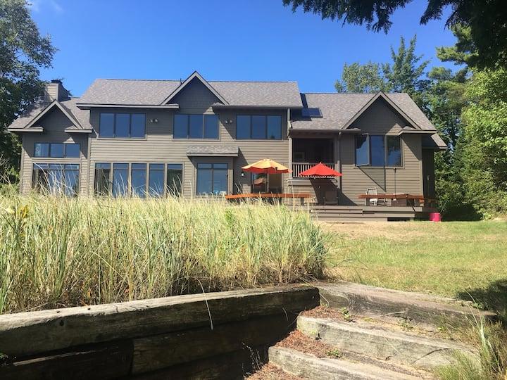 Beautiful home right on the Lake Michigan shore