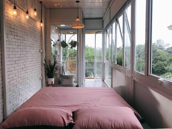 Annam HOAN KIEM LAKE SIDE❤️Phố đi bộ★Chill balcony