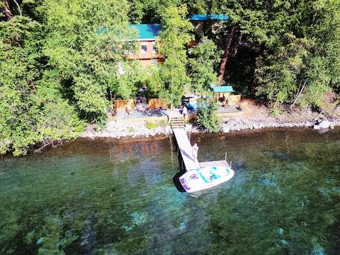 5 B/R house-Gun Lake, dock,kayaks 28 day min, Wifi