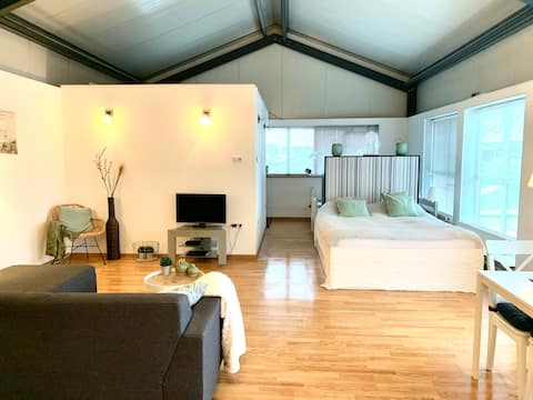 Cosy sunny loft 70 2m Zandvoort Beach near A'dam