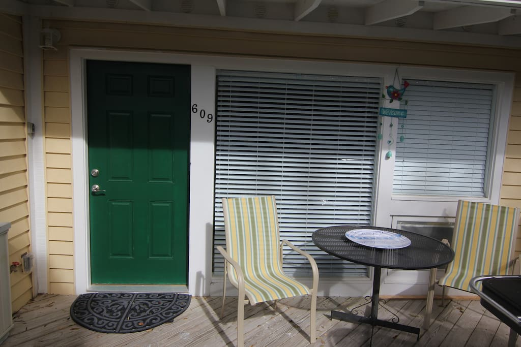 Deck out front to relax with a cup of coffee or a glass of wine....