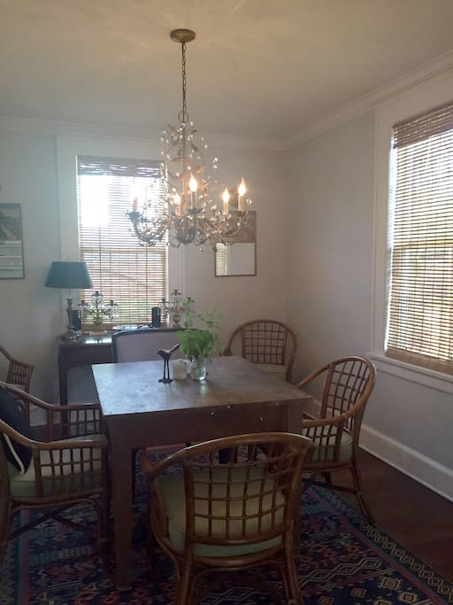 Dinning room between kitchen and living room