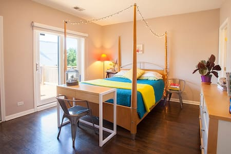 Room with large private balcony