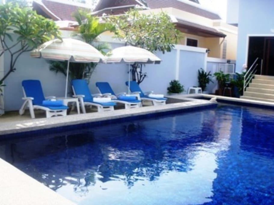 Guesthouse pool.
