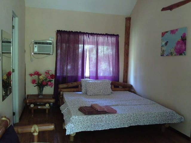Matrimonial Room in a Log Home Beach Resort - Bacong