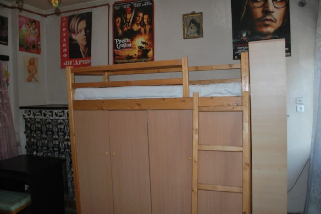 beds have space for storing belongings. another angle for the main room to be rented