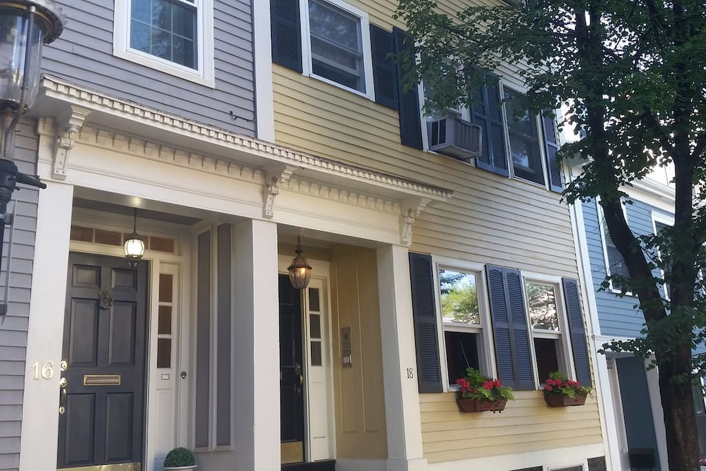 Located on a quiet, tree-lined, gas-lit street in a great family-friendly neighborhood