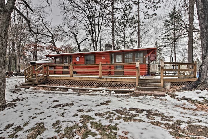 NEW! Cozy Brainerd Cabin with Deck & Private Dock!