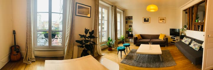 Large and cozy 1 bedroom near Père Lachaise (60m2)