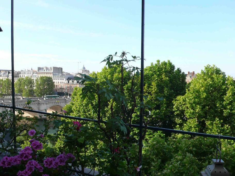 5 ème étage : Petite terrasse avec vue sur le pont neuf et l'hôtel de la monnaie