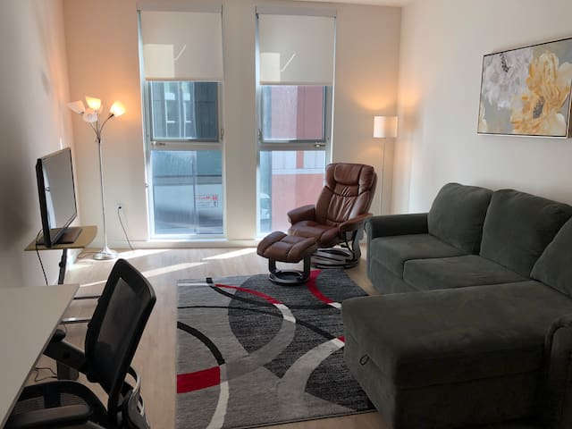 1BR modern apartment in great location