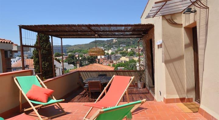 Casa zona Parc Güell con terraza