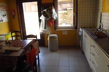 furnitured kitchen downstairs