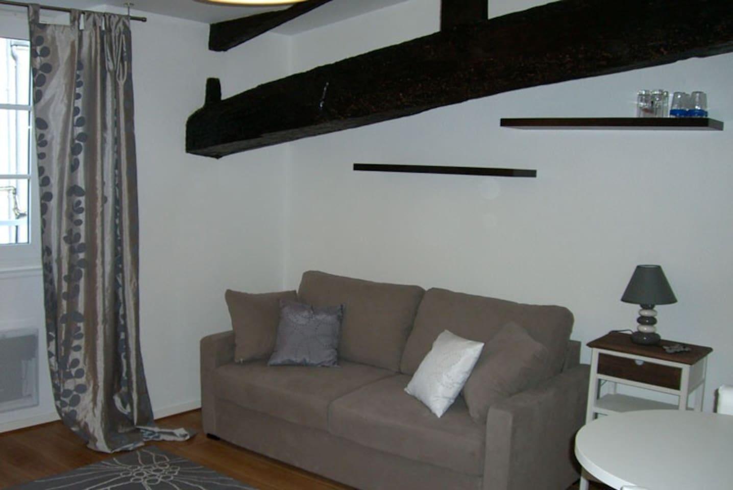 canapé lit grand confort 140
