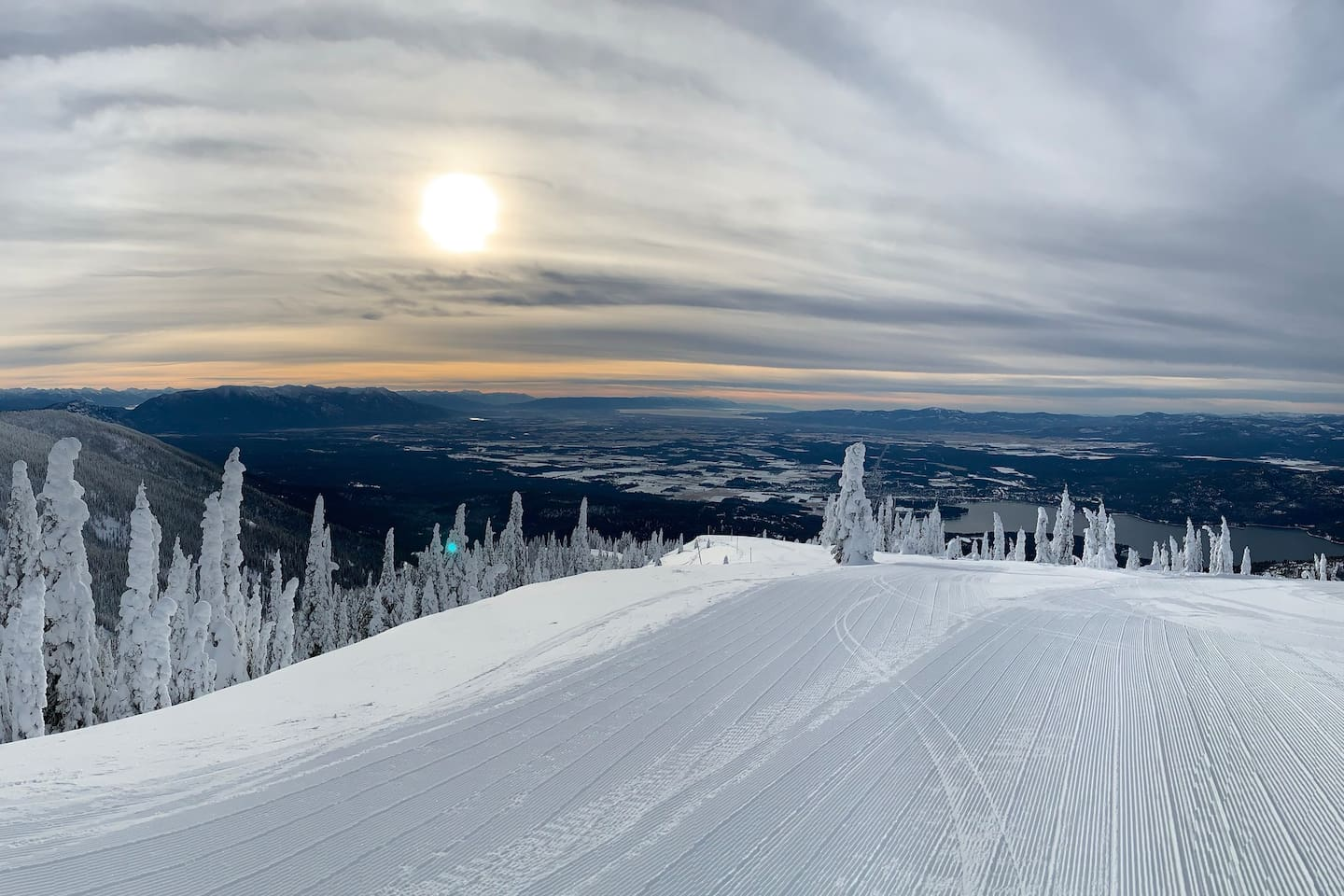 From the slopes