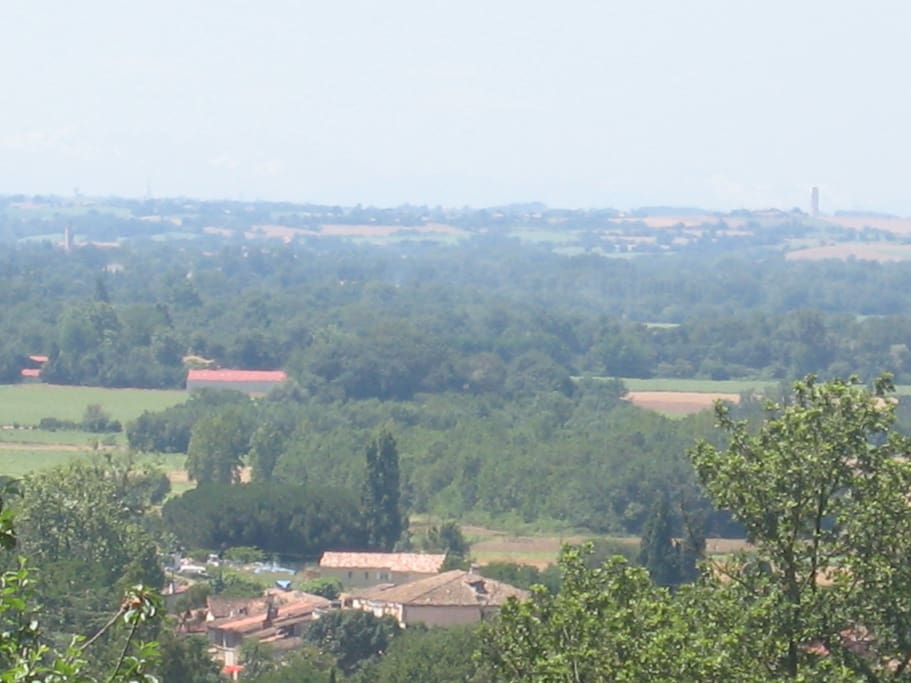 View of Levignac and the Save Valley from the chateau.