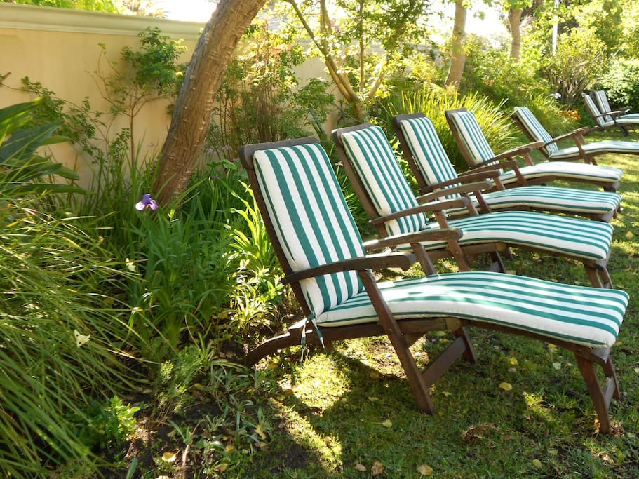 Pool loungers available for guests to enjoy