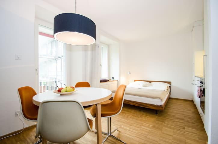 Central Apartment at the River - Basel - Byt