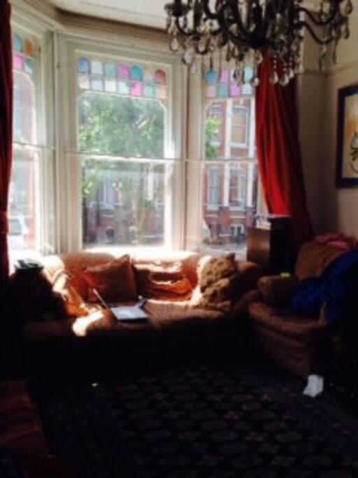 Comfy sofas,SKY TV,Victorian fireplace,Baby Grand piano!