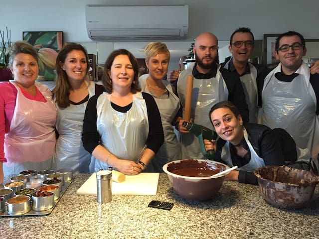 Team building chocolat - La maison de Karen chocolat , à Limonest dans le Rhône