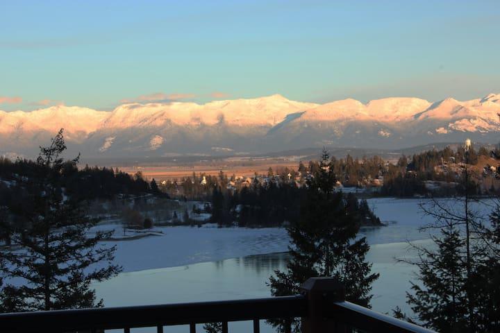 """Bella Vista"" Overlooking Beautiful Flathead Lake"