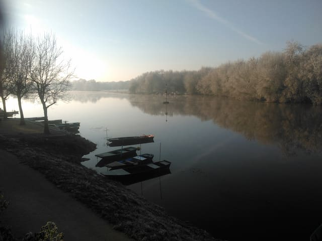 La quiétude au bord de la rivière - Cantenay-Épinard