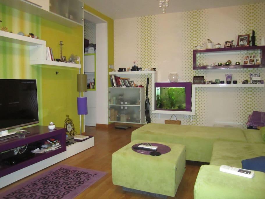 apartment have aquarium