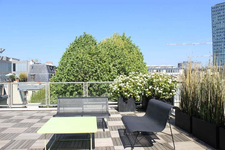 Large terrace, stunning view, A/C ! - Paris - Apartemen