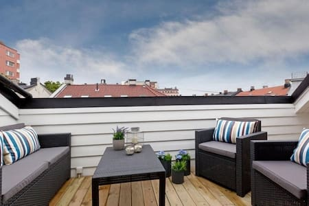 Loft apartment with private rooftop - Oslo