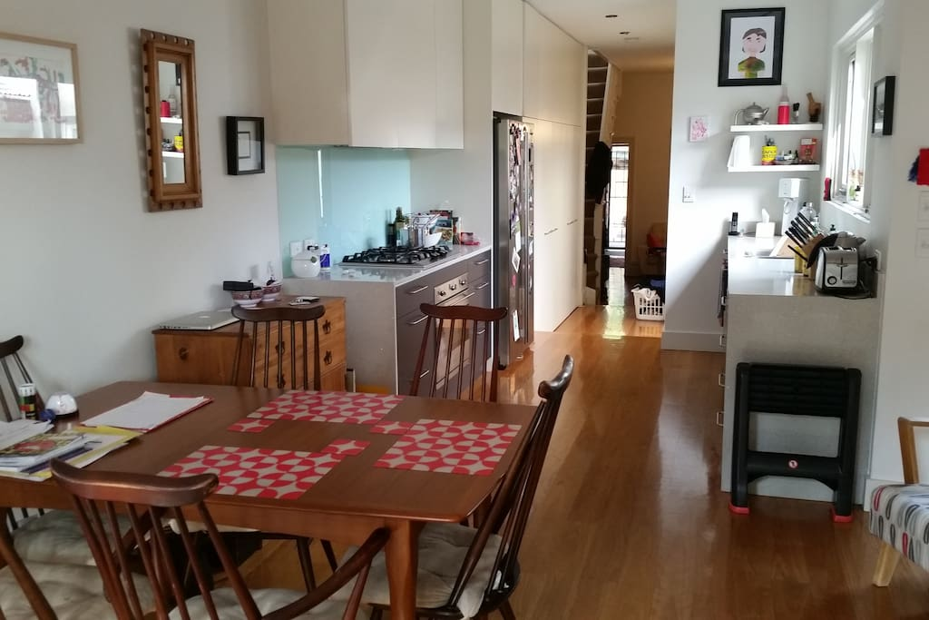 Versatile kitchen / dining room with extendable table