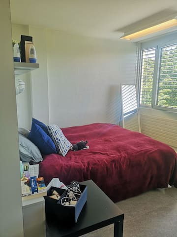 Furnished studio 5 min away by foot from the lake